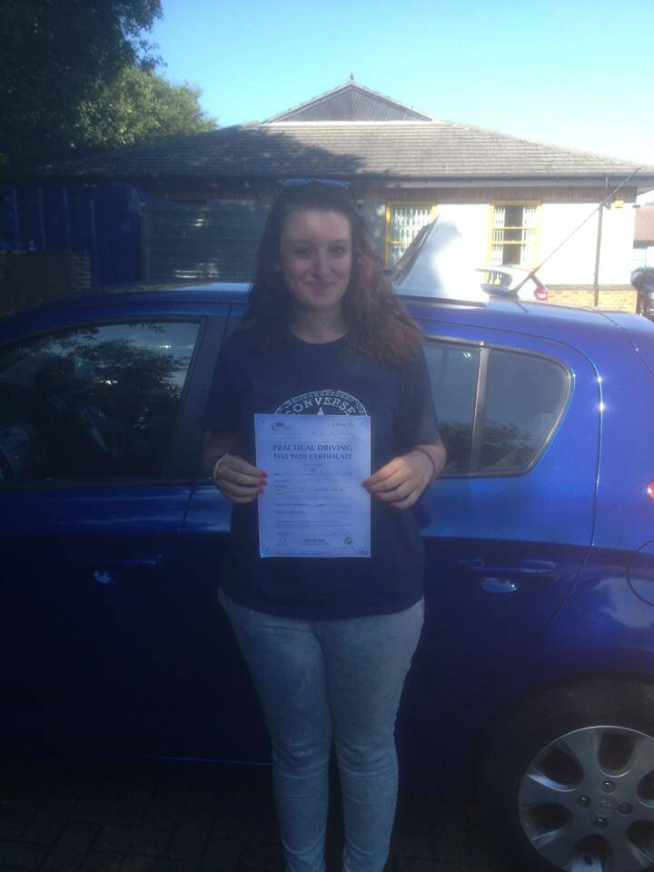 Hanah Morris Passed Driving Test